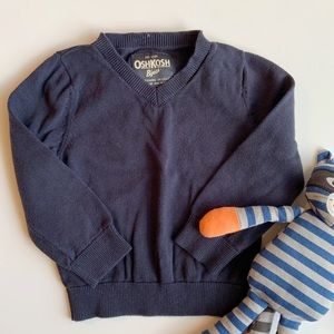 OshKosh Boys Navy Blue V-Neck Sweater